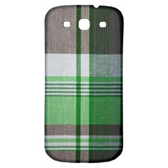 Plaid Fabric Texture Brown And Green Samsung Galaxy S3 S Iii Classic Hardshell Back Case by BangZart