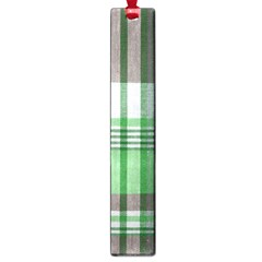 Plaid Fabric Texture Brown And Green Large Book Marks by BangZart