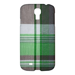 Plaid Fabric Texture Brown And Green Samsung Galaxy S4 I9500/i9505 Hardshell Case by BangZart