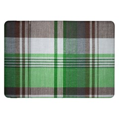 Plaid Fabric Texture Brown And Green Samsung Galaxy Tab 8 9  P7300 Flip Case by BangZart