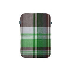 Plaid Fabric Texture Brown And Green Apple Ipad Mini Protective Soft Cases by BangZart