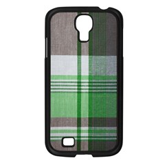 Plaid Fabric Texture Brown And Green Samsung Galaxy S4 I9500/ I9505 Case (black) by BangZart