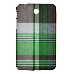 Plaid Fabric Texture Brown And Green Samsung Galaxy Tab 3 (7 ) P3200 Hardshell Case  by BangZart