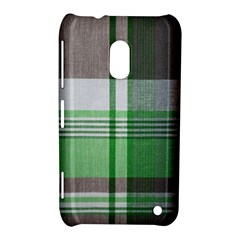 Plaid Fabric Texture Brown And Green Nokia Lumia 620 by BangZart