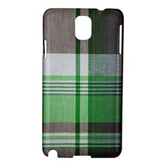 Plaid Fabric Texture Brown And Green Samsung Galaxy Note 3 N9005 Hardshell Case by BangZart