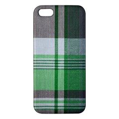 Plaid Fabric Texture Brown And Green Iphone 5s/ Se Premium Hardshell Case by BangZart