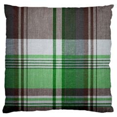 Plaid Fabric Texture Brown And Green Standard Flano Cushion Case (one Side) by BangZart