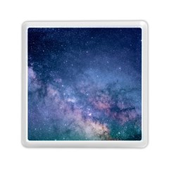Galaxy Nebula Astro Stars Space Memory Card Reader (square)  by paulaoliveiradesign