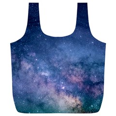 Galaxy Nebula Astro Stars Space Full Print Recycle Bags (l)  by paulaoliveiradesign