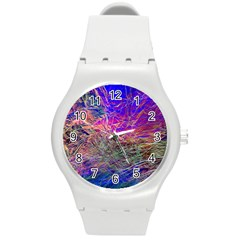 Poetic Cosmos Of The Breath Round Plastic Sport Watch (m) by BangZart