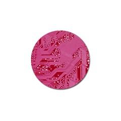 Pink Circuit Pattern Golf Ball Marker by BangZart