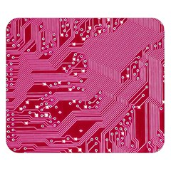 Pink Circuit Pattern Double Sided Flano Blanket (small)  by BangZart