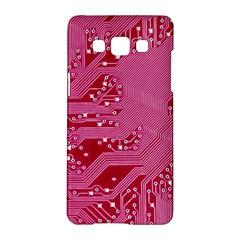 Pink Circuit Pattern Samsung Galaxy A5 Hardshell Case  by BangZart