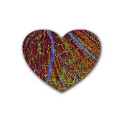 Neurobiology Heart Coaster (4 Pack)  by BangZart