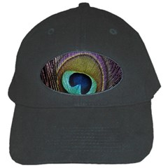 Peacock Feather Black Cap by BangZart