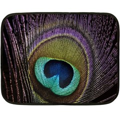 Peacock Feather Double Sided Fleece Blanket (mini)  by BangZart