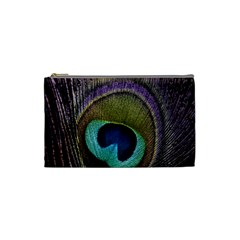 Peacock Feather Cosmetic Bag (small)  by BangZart