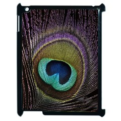 Peacock Feather Apple Ipad 2 Case (black) by BangZart