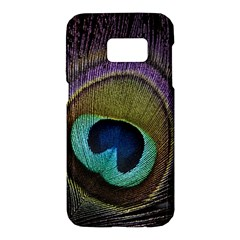Peacock Feather Samsung Galaxy S7 Hardshell Case  by BangZart