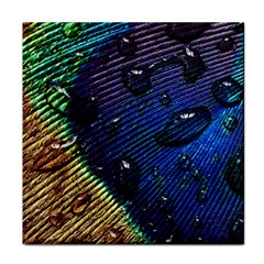 Peacock Feather Retina Mac Tile Coasters by BangZart