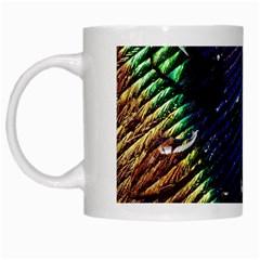 Peacock Feather Retina Mac White Mugs by BangZart