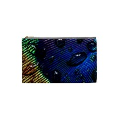 Peacock Feather Retina Mac Cosmetic Bag (small)  by BangZart