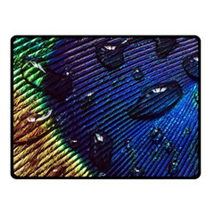 Peacock Feather Retina Mac Fleece Blanket (small) by BangZart