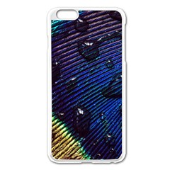 Peacock Feather Retina Mac Apple Iphone 6 Plus/6s Plus Enamel White Case by BangZart