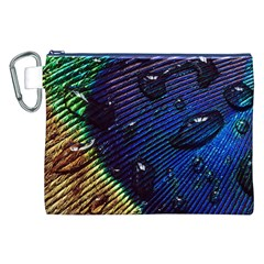 Peacock Feather Retina Mac Canvas Cosmetic Bag (xxl) by BangZart