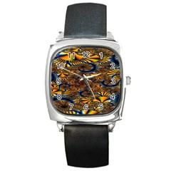 Pattern Bright Square Metal Watch by BangZart