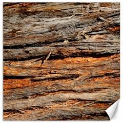 Natural Wood Texture Canvas 16  X 16   by BangZart