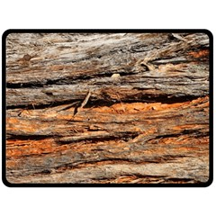Natural Wood Texture Fleece Blanket (large)  by BangZart