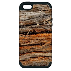 Natural Wood Texture Apple Iphone 5 Hardshell Case (pc+silicone) by BangZart