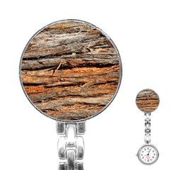Natural Wood Texture Stainless Steel Nurses Watch by BangZart