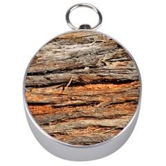 Natural Wood Texture Silver Compasses by BangZart