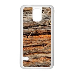 Natural Wood Texture Samsung Galaxy S5 Case (white) by BangZart