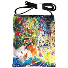 Multicolor Anime Colors Colorful Shoulder Sling Bags by BangZart