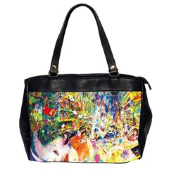 Multicolor Anime Colors Colorful Office Handbags (2 Sides)  by BangZart