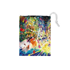 Multicolor Anime Colors Colorful Drawstring Pouches (small)  by BangZart