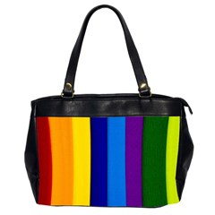 Paper Rainbow Colorful Colors Office Handbags (2 Sides)  by paulaoliveiradesign