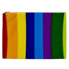 Paper Rainbow Colorful Colors Cosmetic Bag (xxl)  by paulaoliveiradesign