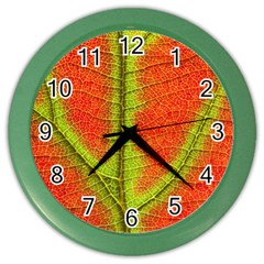 Nature Leaves Color Wall Clocks by BangZart