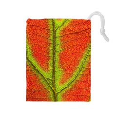 Nature Leaves Drawstring Pouches (large)  by BangZart