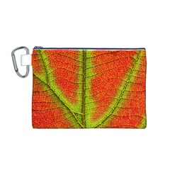 Nature Leaves Canvas Cosmetic Bag (m) by BangZart