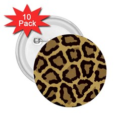 Leopard 2 25  Buttons (10 Pack)  by BangZart