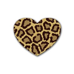 Leopard Heart Coaster (4 Pack)  by BangZart