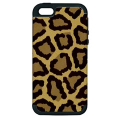 Leopard Apple Iphone 5 Hardshell Case (pc+silicone) by BangZart
