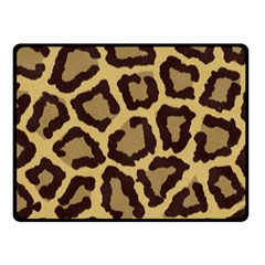 Leopard Double Sided Fleece Blanket (small)  by BangZart