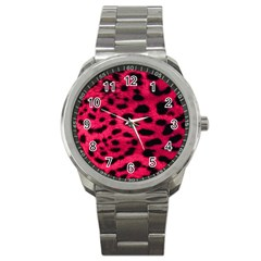 Leopard Skin Sport Metal Watch by BangZart