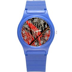 Leaf Pattern Round Plastic Sport Watch (s) by BangZart